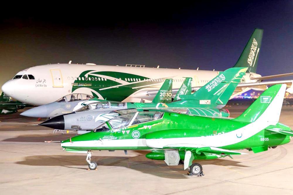 الطائرات المشاركة في احتفالية اليوم الوطن.