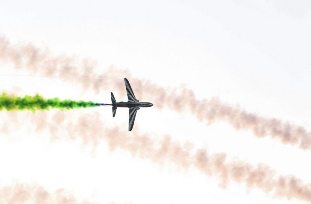 القوات الجوية الملكية السعودية تنفذ عروضاً جوية في سماء جدة