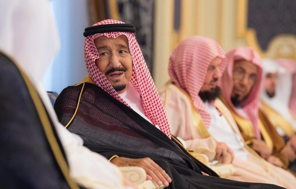الملك سلمان أثناء اللقاء