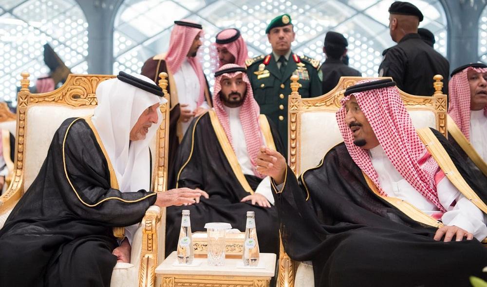 الملك سلمان وخالد الفيصل وعبدالله بن بندر