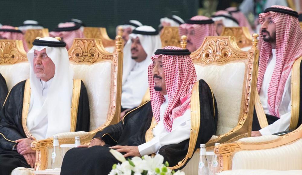 الملك سلمان في حفل التدشين