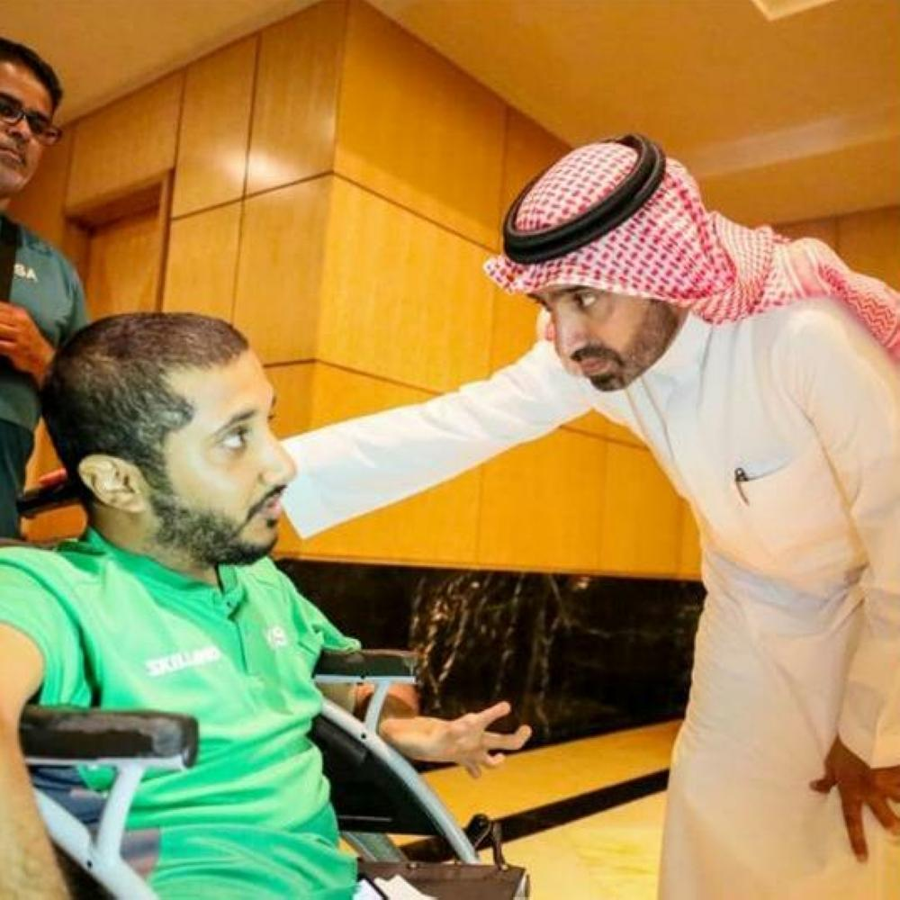 Saudi Minister of Labor and Social Development, Eng. Ahmed bin Sulaiman Al-Rajhi, visited today (Thursday) the Kingdom of Saudi Arabia's delegation participating in the Asian Paralympic Games in Jakarta.