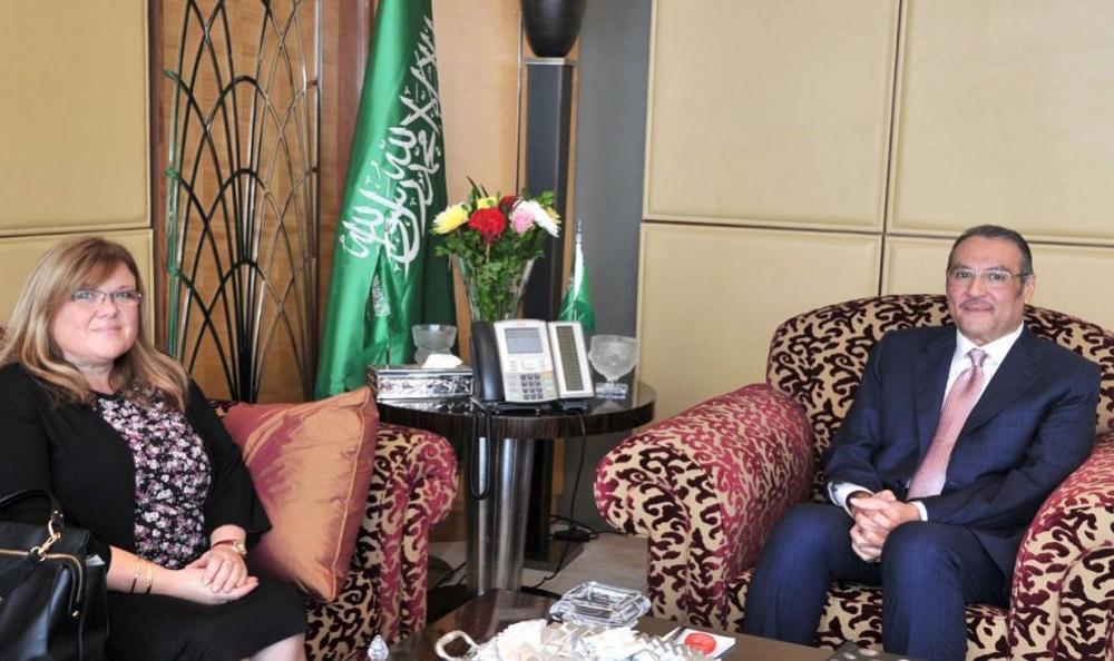 Saudi ambassador to Egypt Osama bin Ahmed Nugali, who is also the representative of the Kingdom of Saudi Araba to the Arab League, met in Cairo today (Thursday) with the ambassador of the Republic of Slovenia to Egypt Matiba Prevolic.