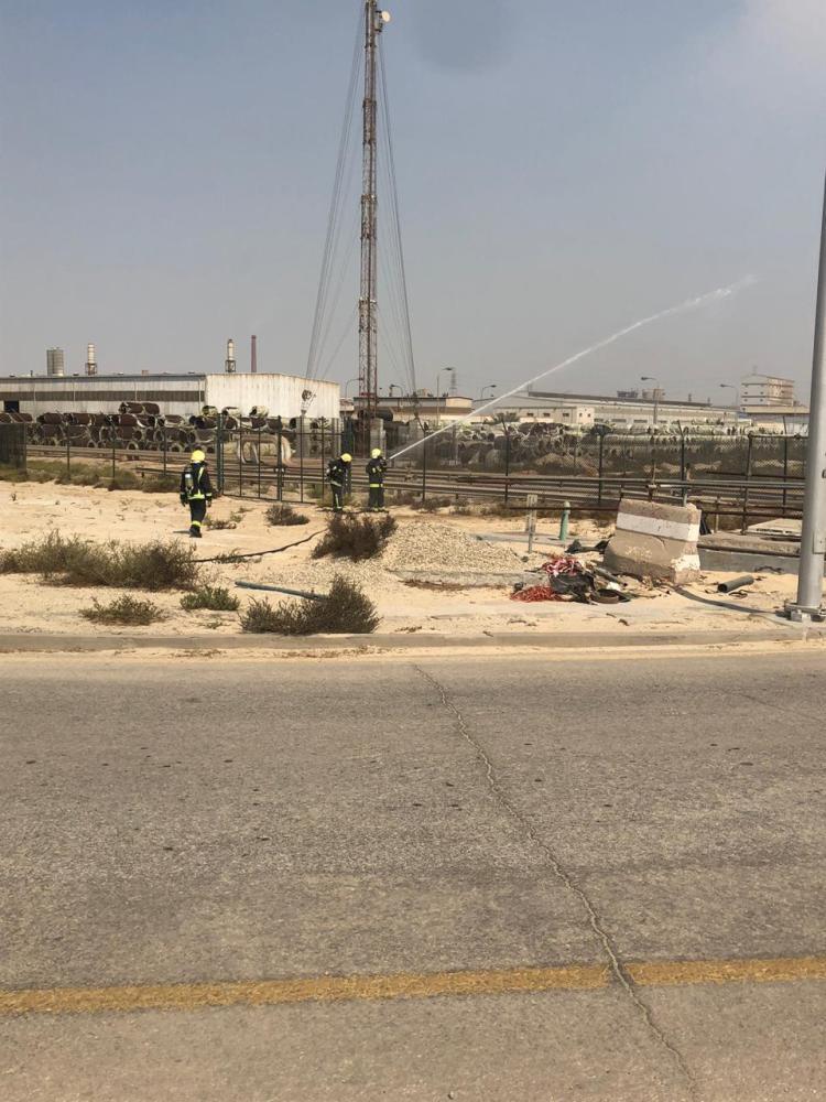 «الجبيل الصناعية»: تسريب محدود في منطقة أنابيب.. ولا أضرار ناجمة عنه