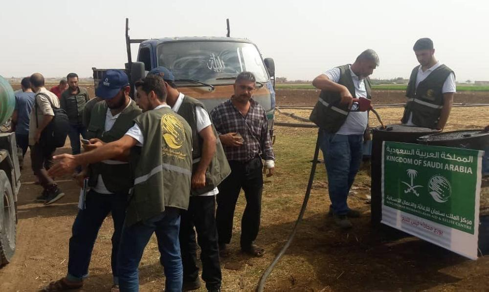 King Salman Humanitarian Aid and Relief Center works to support agricultural projects in the north of Syria within the framework of the project