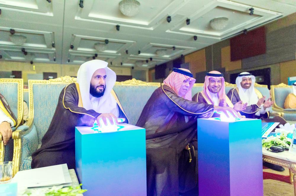 وزيرا العدل والتجارة يدشنان انطلاقة المؤتمر الدولي للتحكيم في الرياض أمس. (عكاظ)