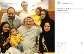 حساب خاشقجي في انستغرام يظهر احتفاله بذكرى مولده في مارس.