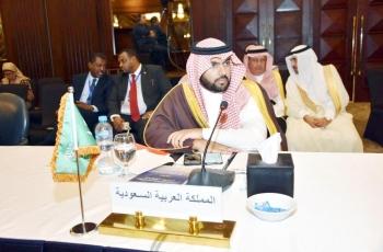 الأمير بدر بن عبدالله مترئسا وفد المملكة.