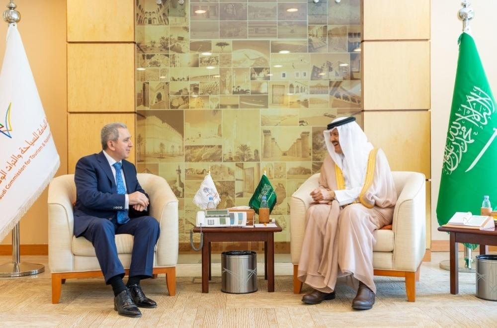 Prince Sultan bin Salman bin Abdulaziz, President of Saudi Commission for Tourism and National Heritage met in Riyadh yesterday (Monday) with the Ambassador of Azerbaijan to the Kingdom Shahin Abdullayev.