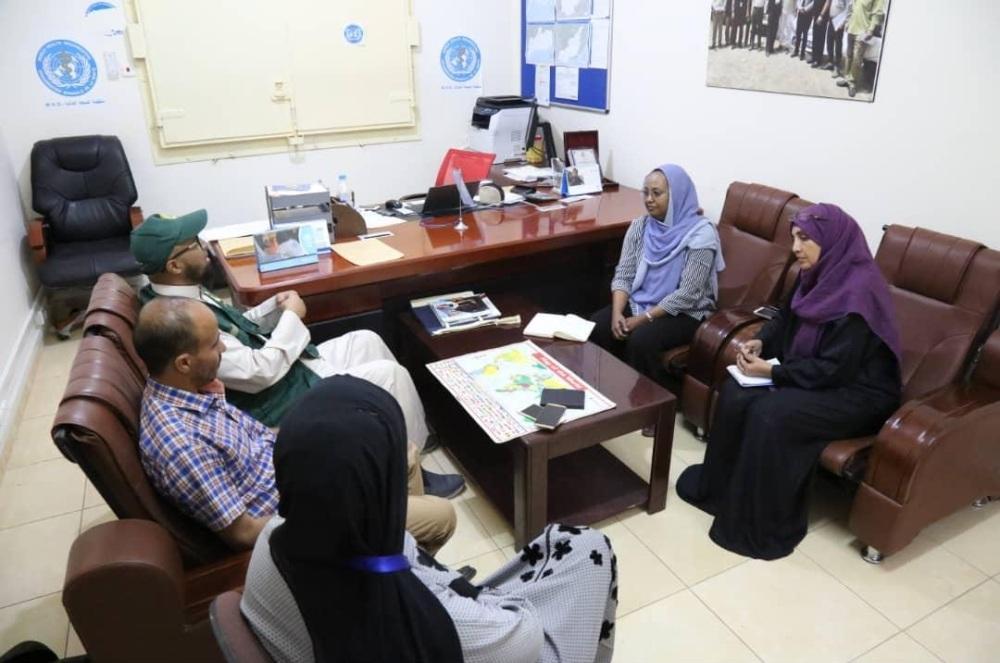 لقاء منظمة الصحة العالمية مع مركز الملك سلمان في عدن