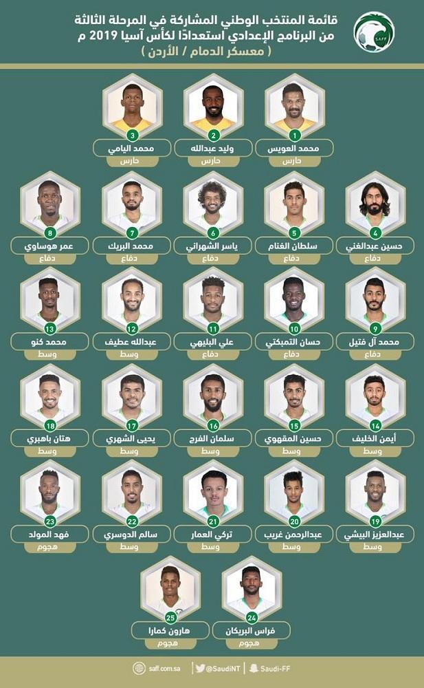 قائمة المنتخب السعودي