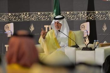 الأمير خالد الفيصل في حواره مع حضور الحفل