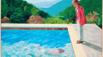 لوحة «حمام السباحة» للفنان الإنجليزي ديفيد هوكني.