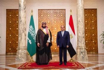 الأمير محمد بن سلمان والرئيس المصري عبدالفتاح السيسي