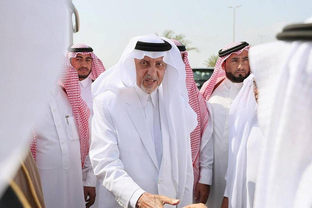 الأمير خالد الفيصل لدى وصوله إلى الليث