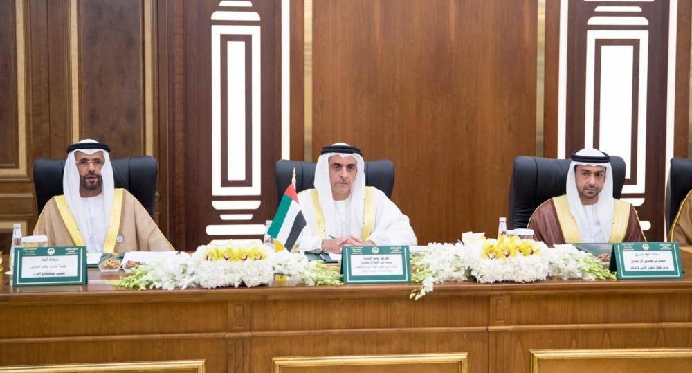 وزير الداخلية الإماراتي والوفد المرافق