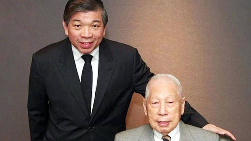 تشانغ يون مع ابنه