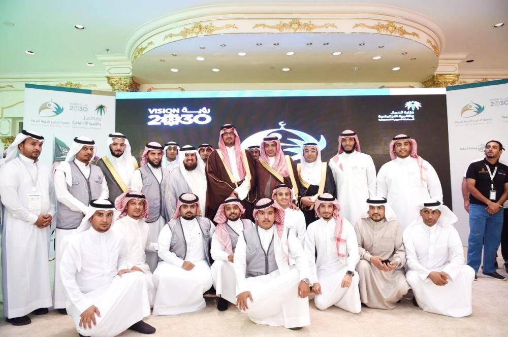 الأمير سعود بن خالد الفيصل خلال تدشين الفعالية.