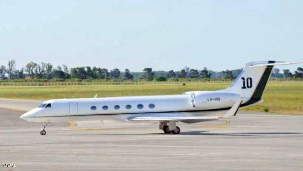 طائرة ميسي الخاصة.