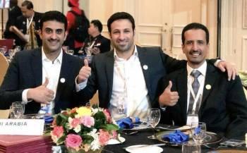 من اليمين طلال الرشيدي - بدر المجرذي - يوسف الشهراني