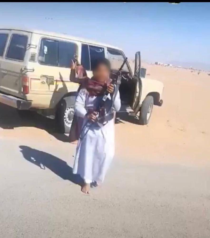 إحالة مواطن ظهر أطفاله يطلقان النار من سلاح رشاش إلى الجهة المختصة
