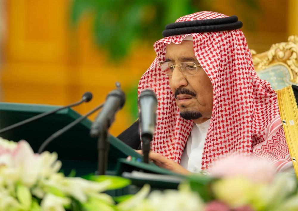 الملك سلمان مترئسا جلسة مجلس الوزراء