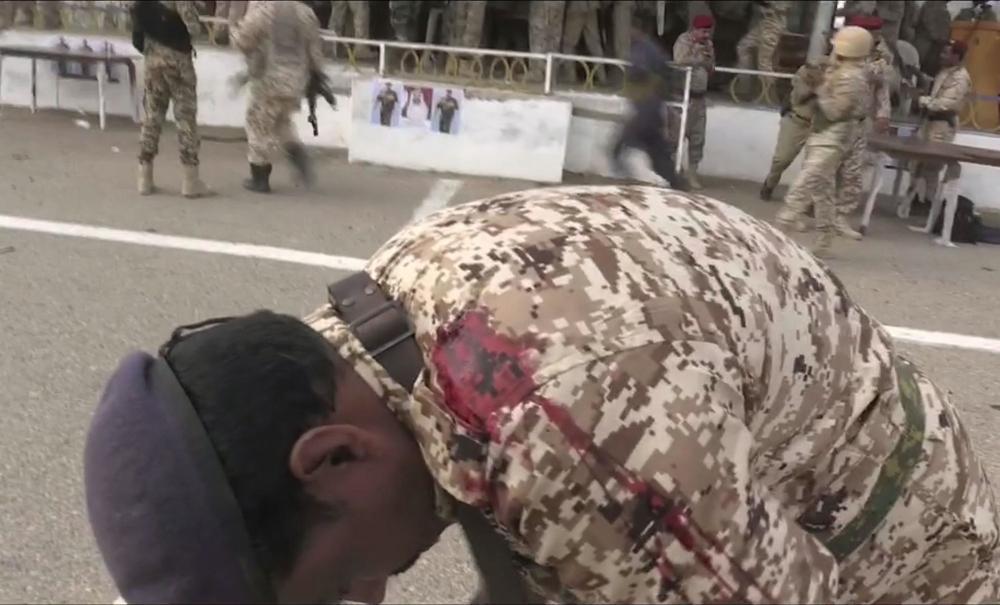 جندي يمني مصاب