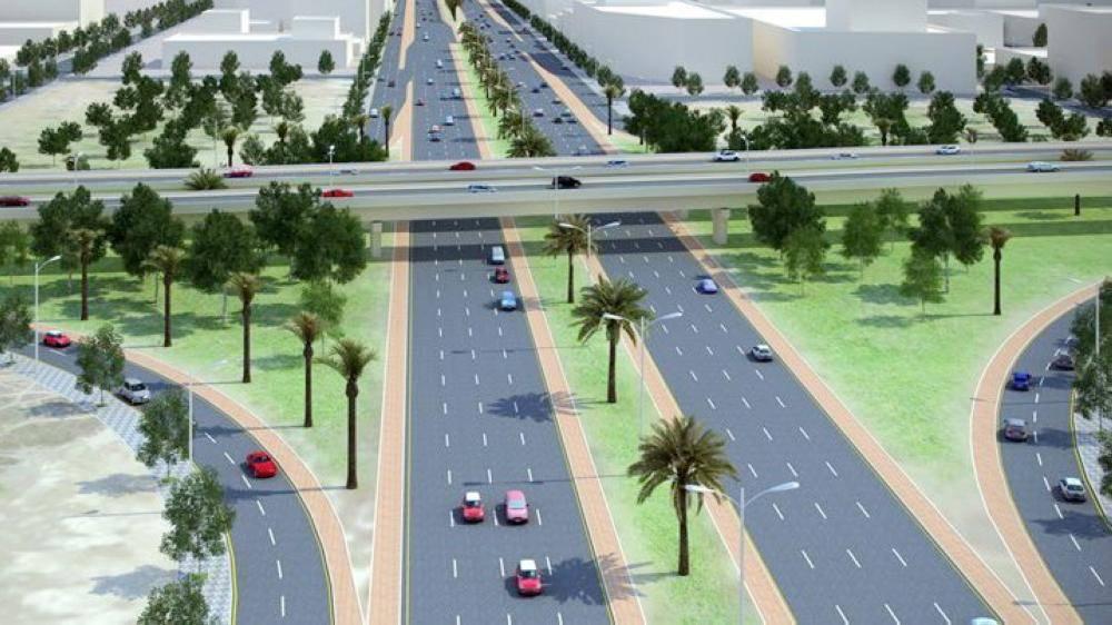 رسم تصوري لمشروع تقاطع طريق الملك فهد مع «صاري».