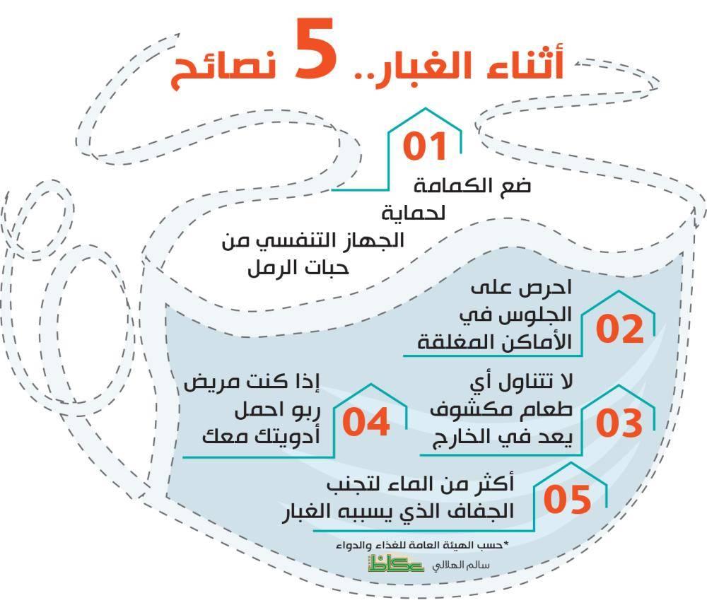 أثناء الغبار.. 5 نصائح