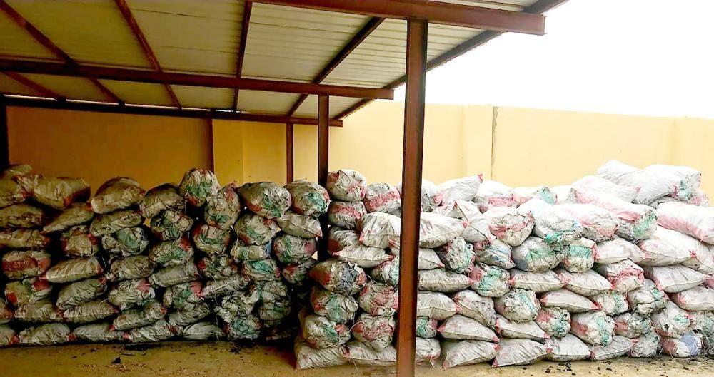 أكياس فحم ضبطها فرع وزارة الزراعة.