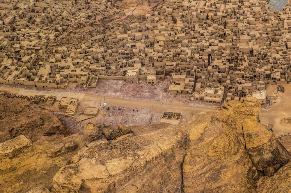 Aerial Old Town- Photo Credit- Royal Commission for AlUla