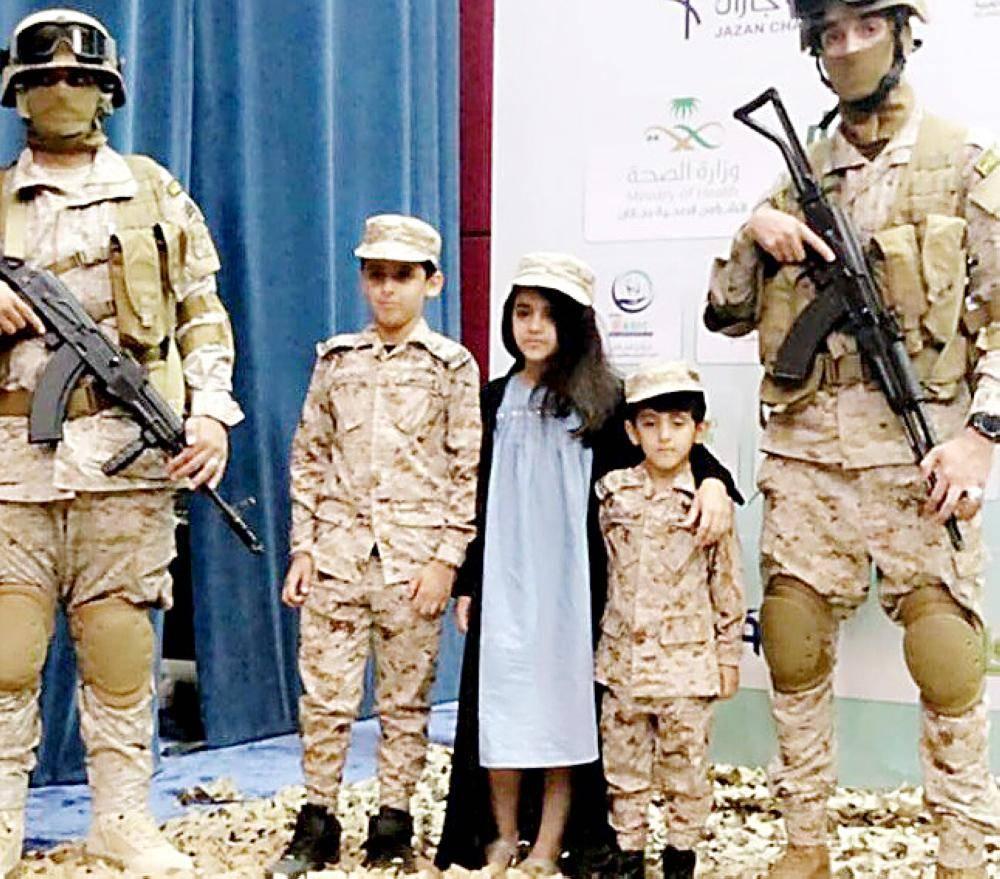 أطفال يشاركون في البرنامج. (تصوير: محمد القيسي)