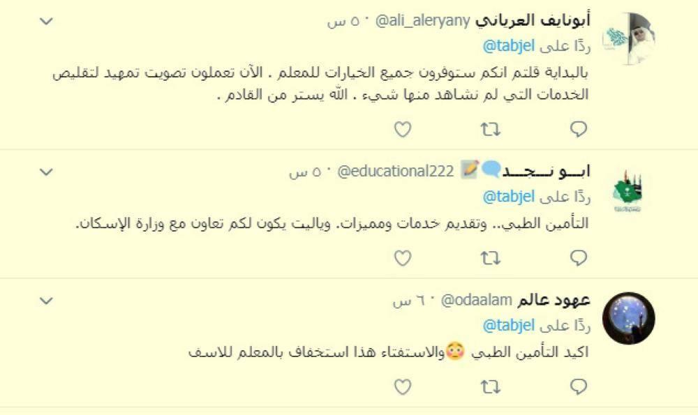 تعليقات مشاركين في الاستفتاء.