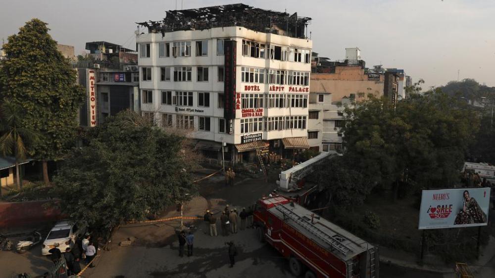 17 قتيلاً بحريق فندق في نيودلهي