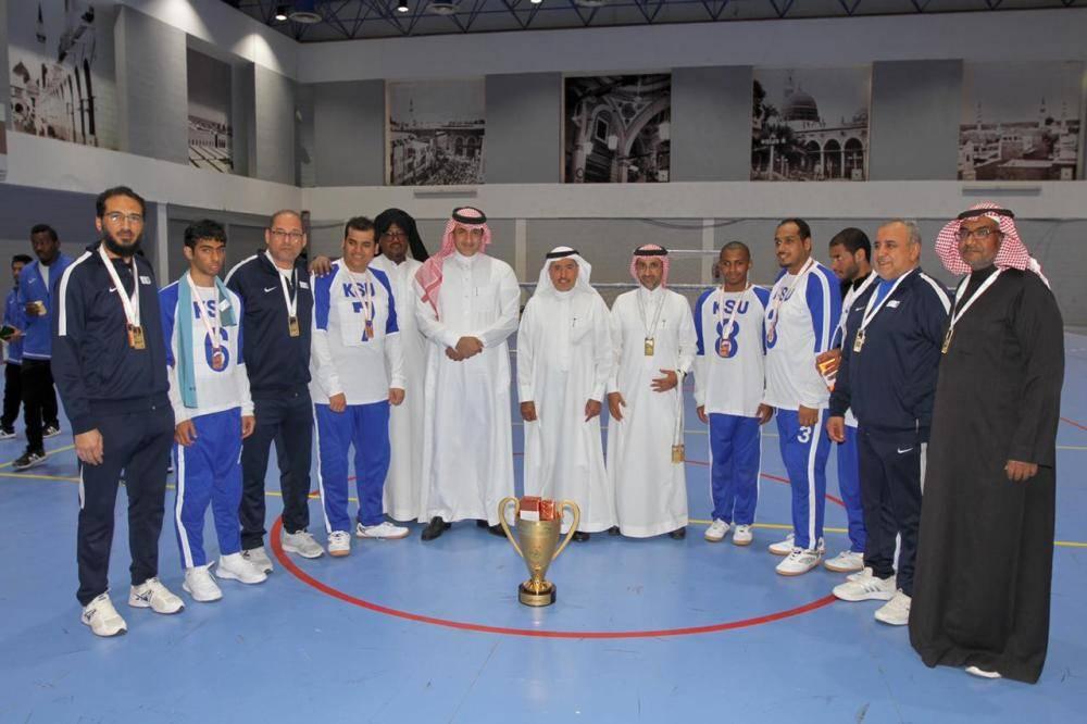 جامعة الملك سعود تحقق بطولتي ألعاب القوى وكرة الهدف للاحتياجات الخاصة