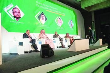 الملتقى السعودي الهندي في العاصمة نيودلهي، أمس. (واس)