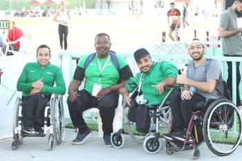 لاعبو المنتخب السعودي لألعاب القوى لذوي الإعاقة.