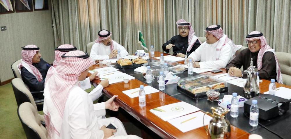 لقطة من اجتماع مجلس إدارة الاتحاد السعودي لكرة الطائرة.