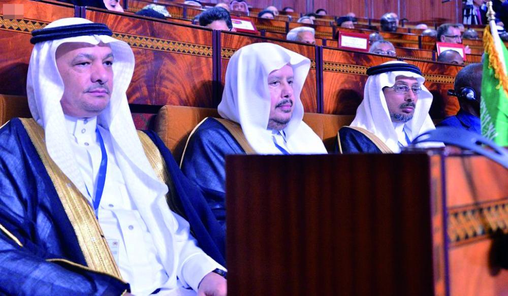 آل الشيخ مترئسا وفد المملكة في المؤتمر.