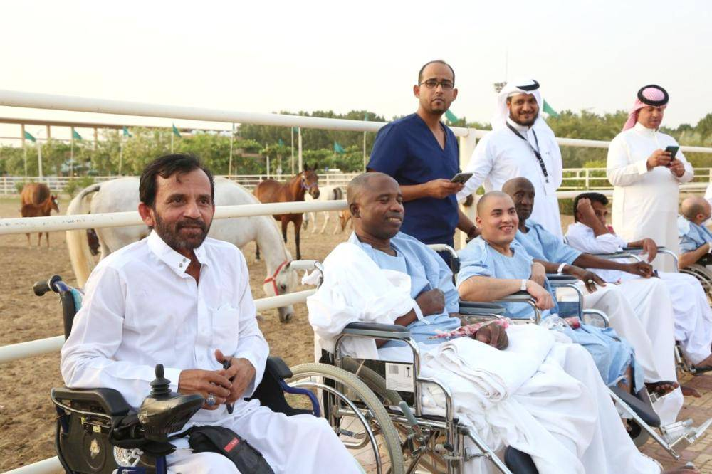 الفعالية هدفت للترفيه عن المرضى وإدخال البهجة على نفوسهم.
