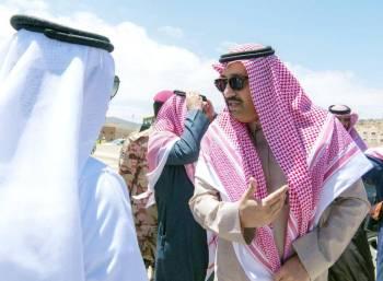 الأمير حسام بن سعود متحدثا لـ«عكاظ».
