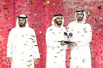 الشيخ نهيان بن زايد يكرم حمدان المنصوري الحاصل على المركز الأول في «المنكوس».