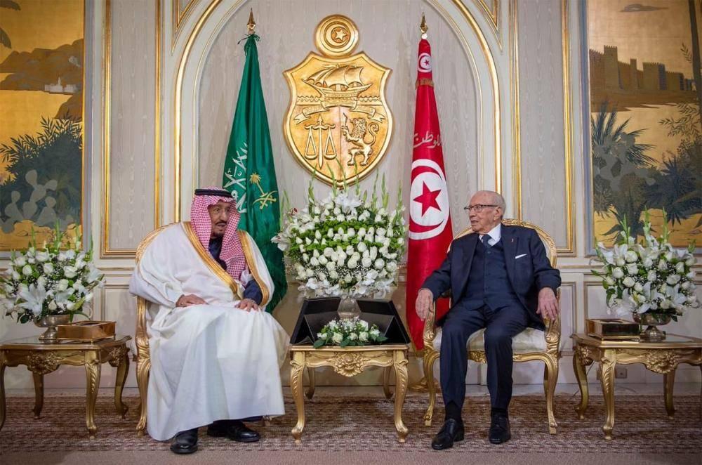 الملك سلمان يبحث مع الرئيس التونسي آفاق التعاون ومستجدات الأحداث