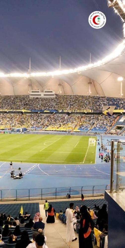 «الهلال الأحمر»: 56 حالة إسعافية في مباراة الاتحاد والنصر