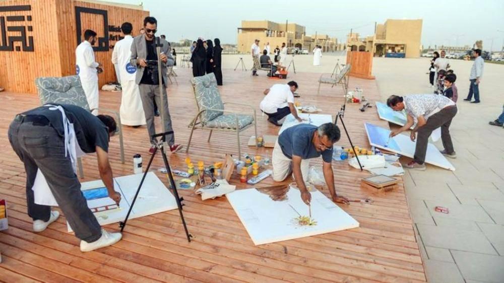 إبداعات السعوديين وسط العوامية.
