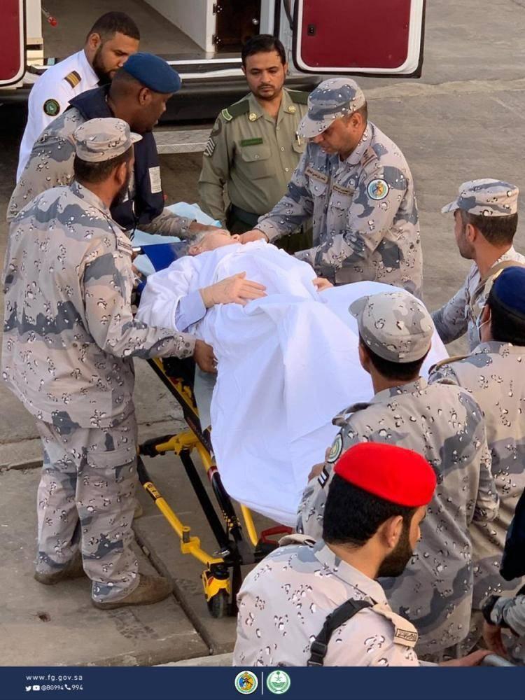 حرس الحدود ينقذ راكباً أمريكياً في البحر الأحمر