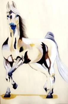 لوحة من أعمال الفنانة مضاوي البدر.