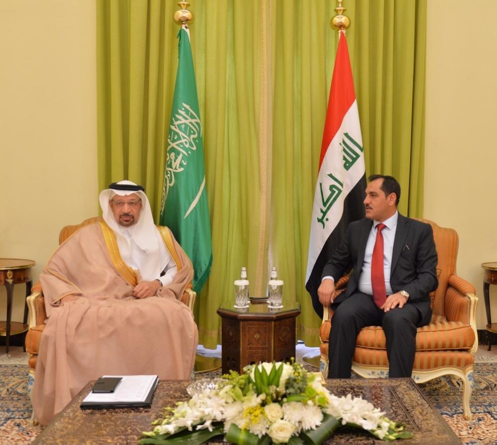 الفالح يبحث آفاق التعاون مع وزيري الصناعة والنفط العراقيين