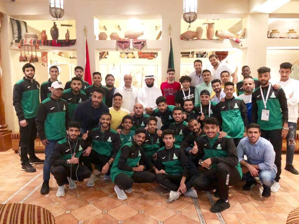 صورة جماعية لمنتخبات الجامعة المشاركة في البطولة.