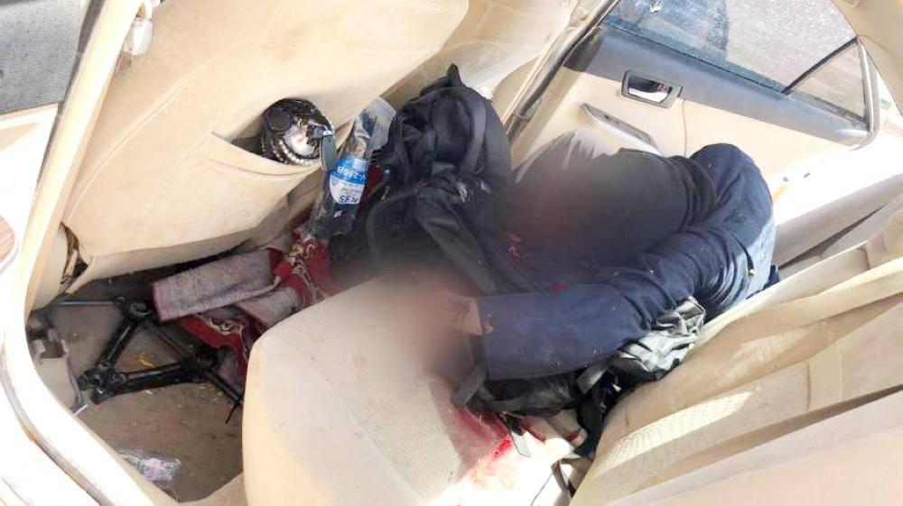 صورة متداولة للقضاء على أحد الإرهابيين.